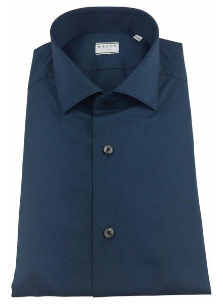 Xacus Xacus Dress Shirt Slim Middenblauw