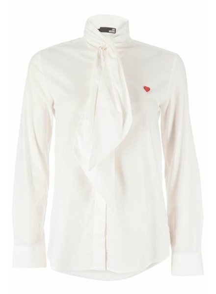 Love Moschino Love Moschino Blouse bow collar ivory