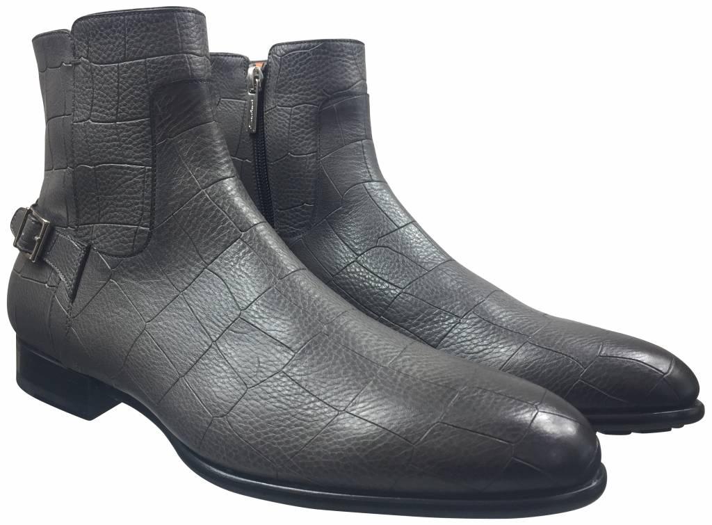 Santoni Santoni Boot Grijs Croco