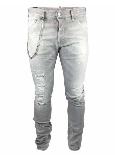 """Dsquared2 Dsquared2 Jeans Grijs """"Cool Guy"""" met Ketting"""
