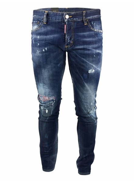 "Dsquared2 Dsquared2 ""Slim"" Jeans Blauw met Rood accent"