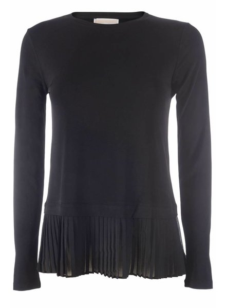 Michael by Michael Kors Michael by Michael Kors long sleeve top plissé