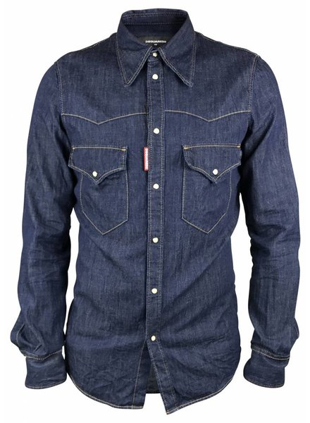 Dsquared2 Dsquared2 Blauw Denim Shirt