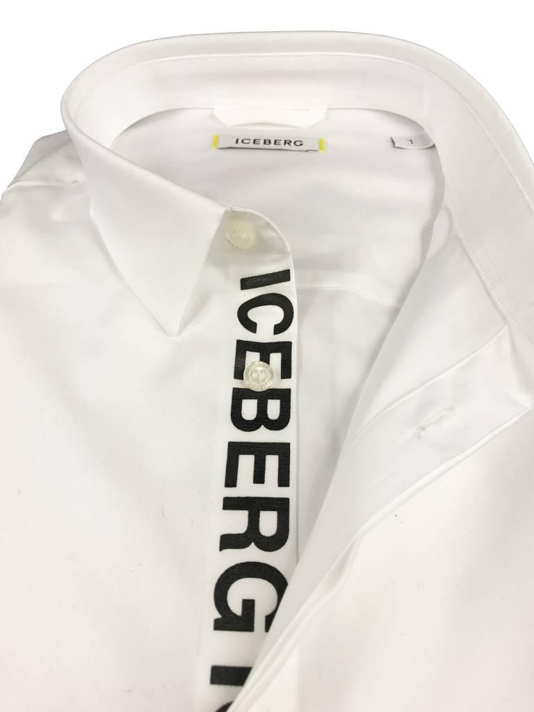 Iceberg Iceberg Wit Shirt met Logo's G173 1264-1101