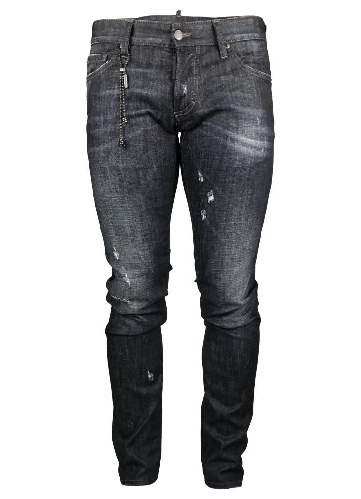 "Dsquared2 Dsquared2 Jeans Clean Zwart ""Slim""  - S74LB010 S30357-900"