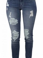 7 For All Mankind Skinny Jeans Destroyed Blauw - 7FAM