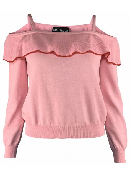 Boutique Moschino Off-Shoulder Trui Roze