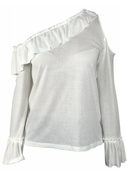 Pinko Off Shoulder top Wit