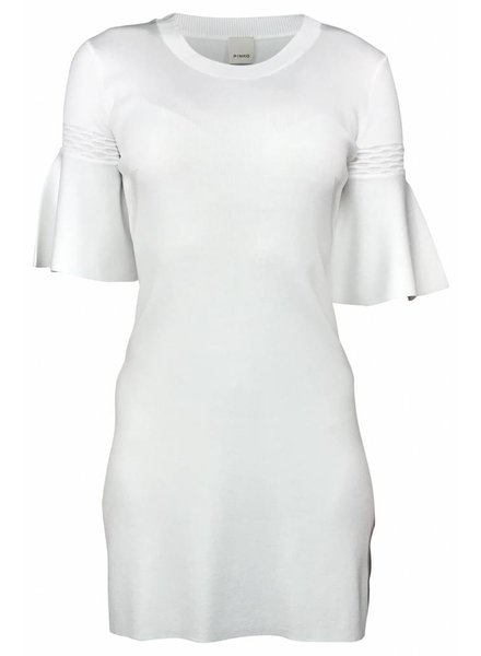 Pinko Witte jurk met Klokmouwen