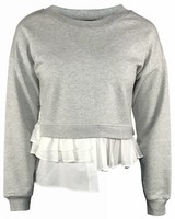 Boutique Moschino Grijze Cropped Sweater