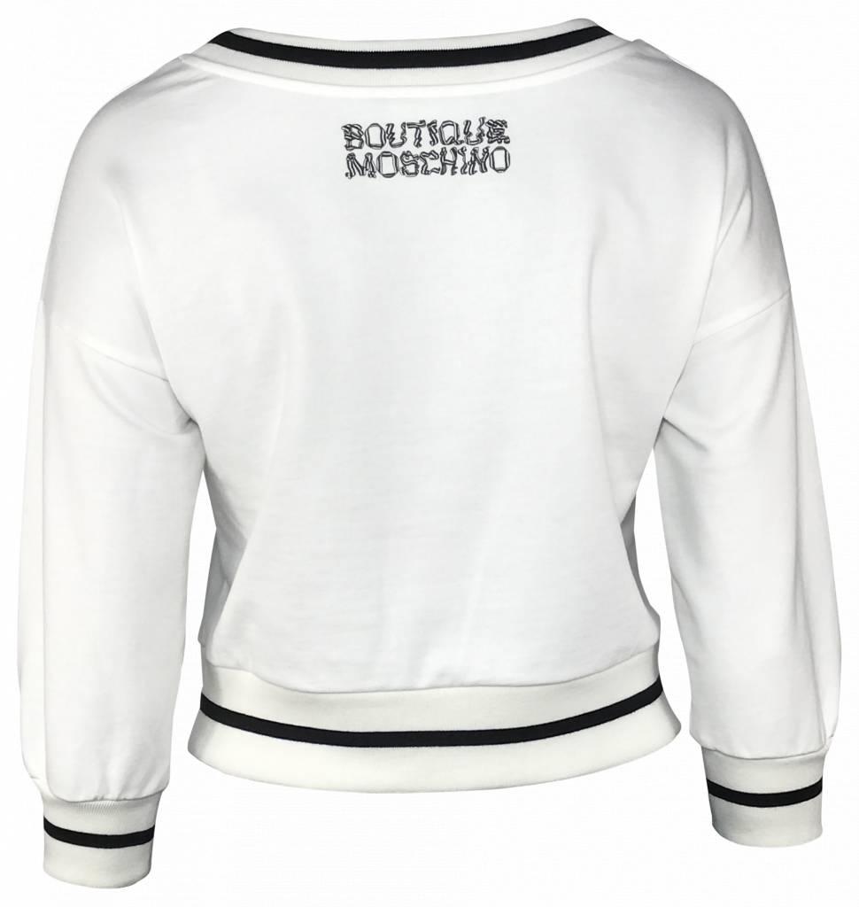 Boutique Moschino Witte sweater met strik-17020825-A1002