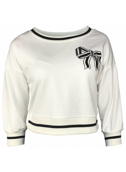 Boutique Moschino Witte sweater met strik