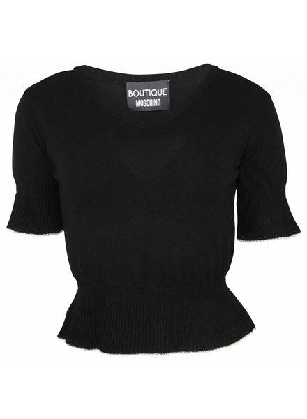 Boutique Moschino Zwart topje met korte mouwen
