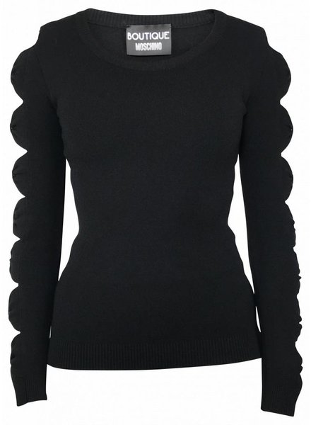 Boutique Moschino Zwarte top met mouw detail