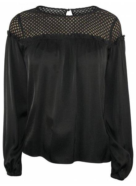 Pinko Zwarte blouse met mesh