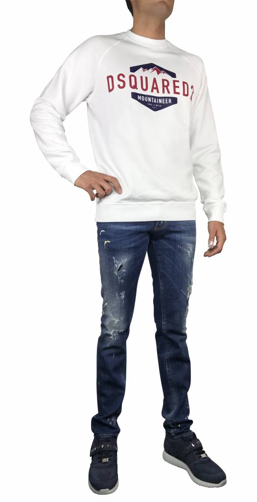 Dsquared2 Witte Dsquared2 sweater met opdruk-S74GU0208 S25030-100