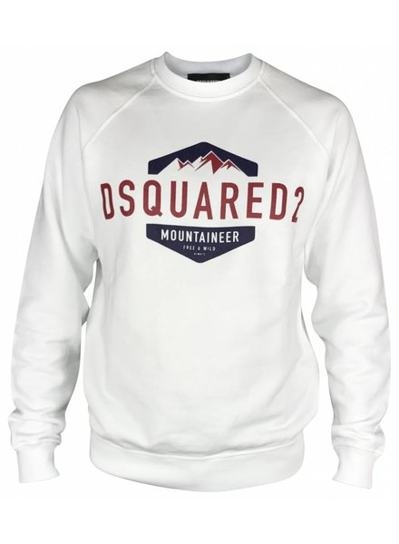 Dsquared2 Witte Dsquared2 Sweater met opdruk