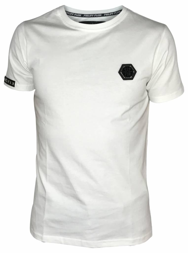 Philipp Plein Wit Philipp Plein T-shirt- F17C MTK1024 PJY002N-01