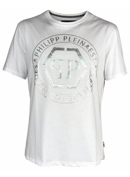 Philipp Plein Wit Philipp Plein T-shirt met opdruk