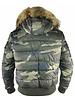 Philipp Plein Camouflage PP jas met bontkraag-F17C MRB0288