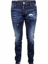 Dsquared2 Blauwe Dsquared jeans met bleek vlekken