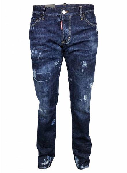 Dsquared2 Blauwe Dsquared jeans met bleek vlekken en gaten