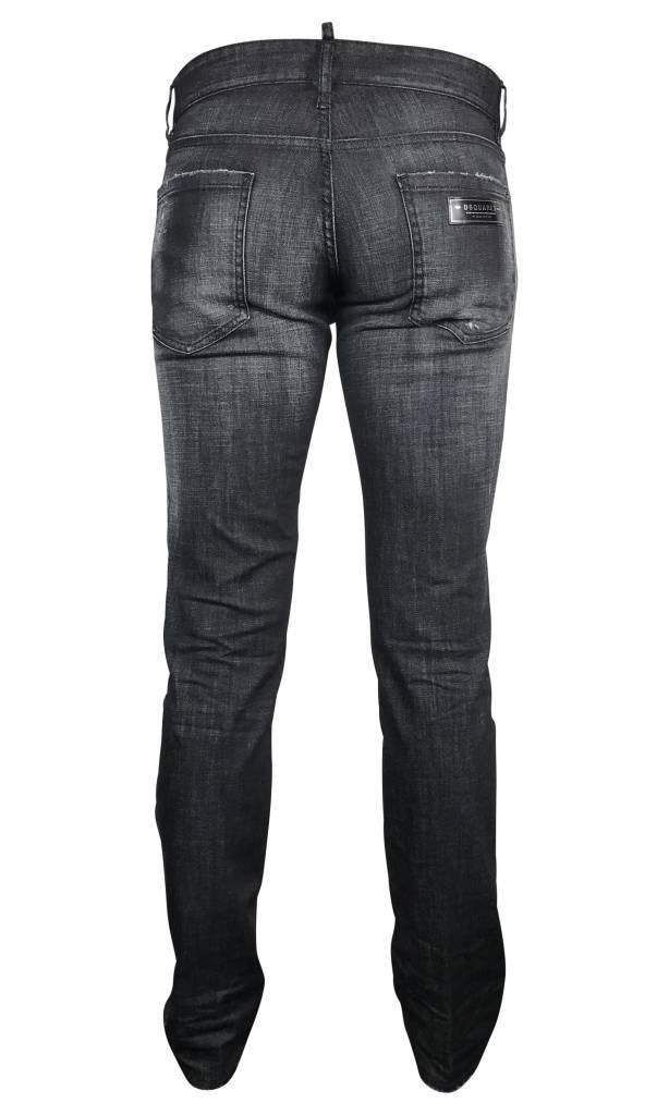 Dsquared2 Zwarte Dsquared Slim jeans-S74LB0229 S30357-900