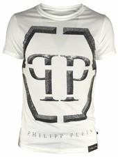 """Philipp Plein T-shirt """"Winter"""" Wit PP"""