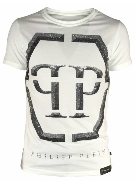 "Philipp Plein T-shirt ""Winter"" Wit PP"