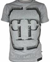 "Philipp Plein T-shirt ""Winter"" Grijs PP"
