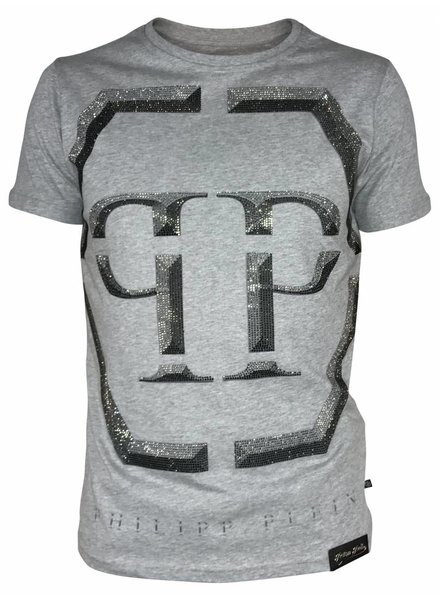 "Philipp Plein T-shirt ""Winter"" Grijs PP"