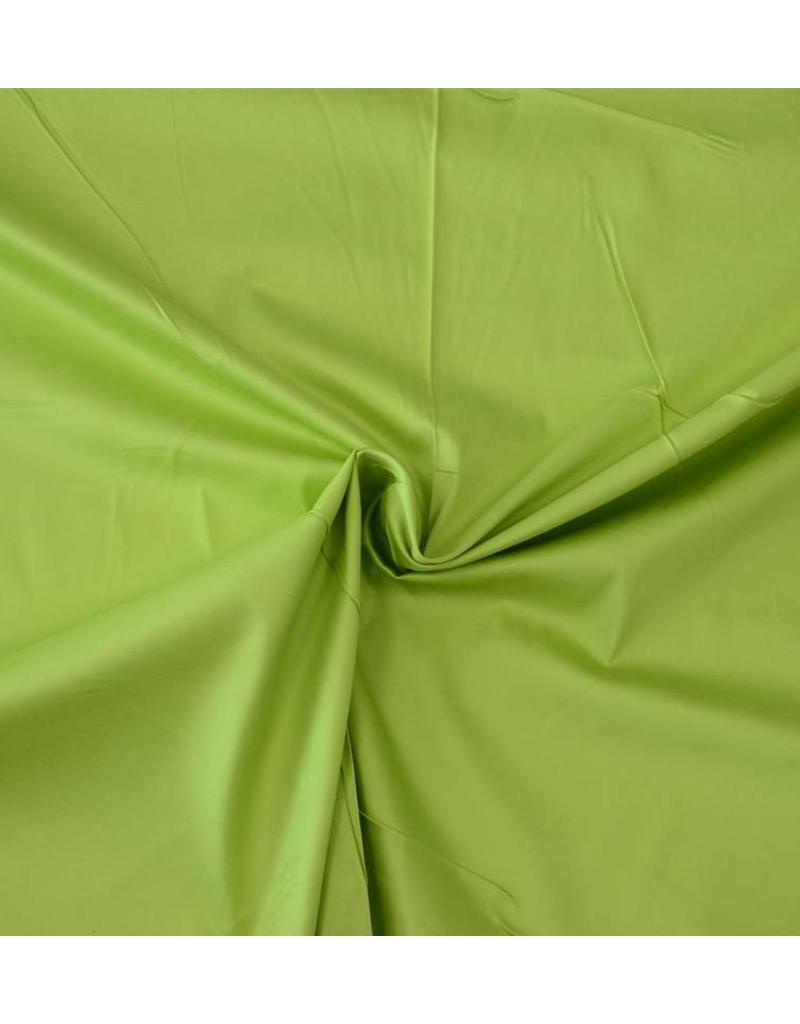 Katoen Satijn Uni 0027 - limoen groen
