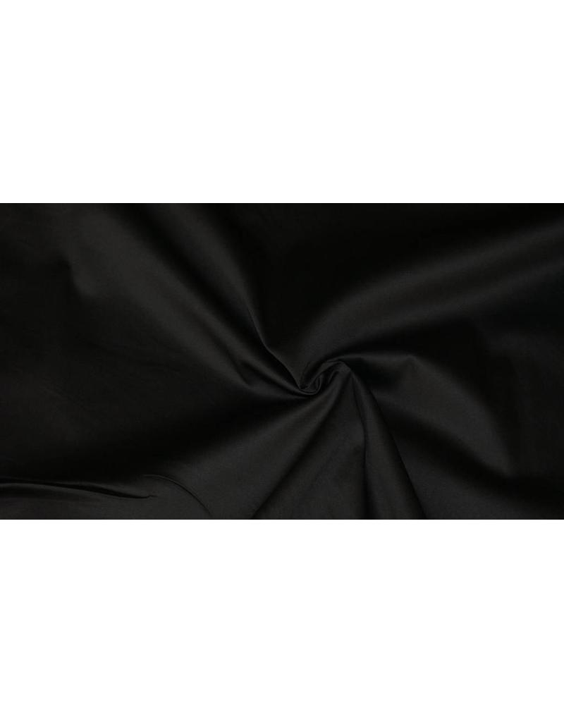 Satin de Coton Uni 0011 - noir