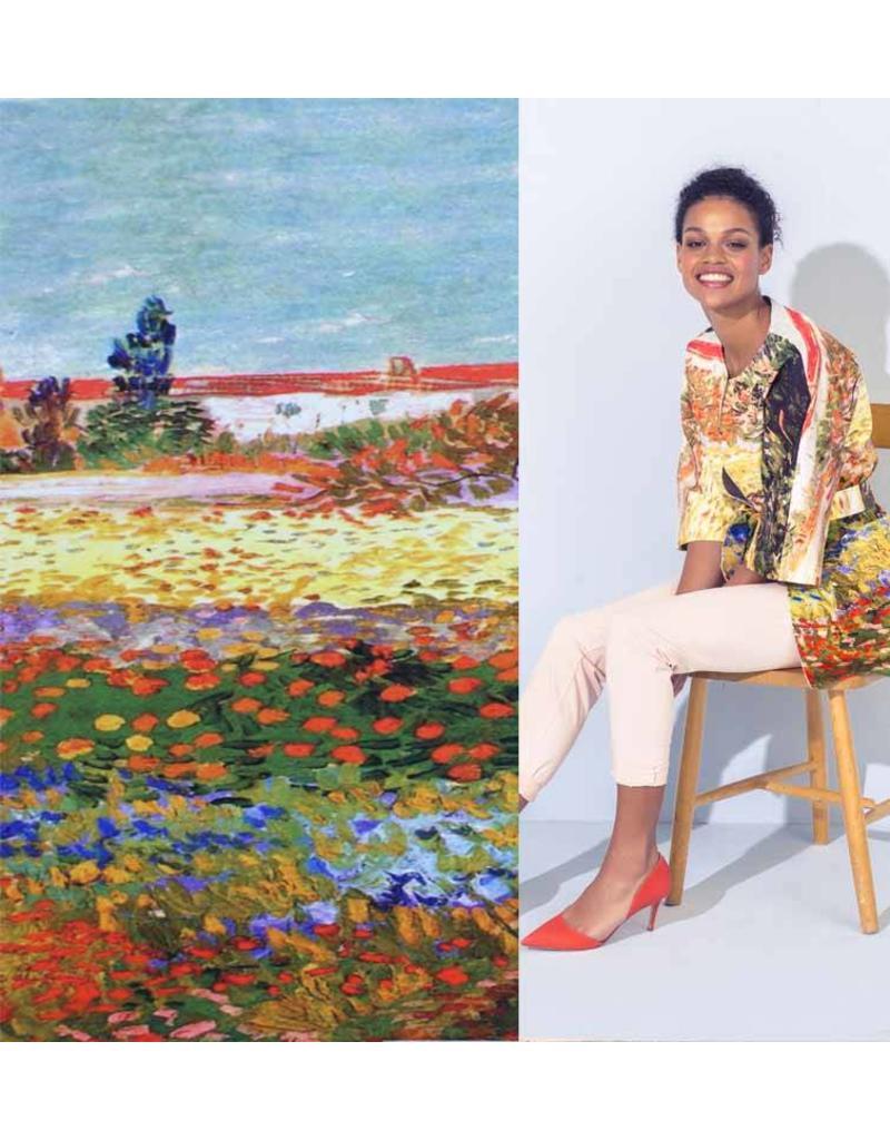 Jersey Inkjet 734 - Van Gogh / Flower Garden of Arles
