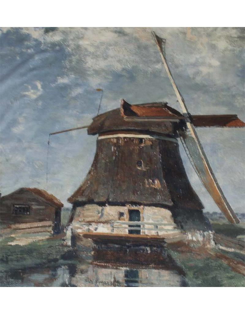 Cotton Inkjet 508  - In de maand juli. Een molen aan een poldervaart,  Constant Gabriël