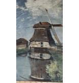 Katoen Inkjet 508 - In de maand juli. Een molen aan een poldervaart,  Constant Gabriël