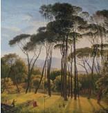 Glanz Baumwolle Inkjet 110 - Italiaans landschap met parasoldennen, Hendrik Voogd