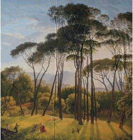 Glossy Cotton Inkjet 110 - Italiaans landschap met parasoldennen, Hendrik Voogd
