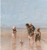 Glans Katoen Inkjet 709 - children of the sea, Jozef Israëls