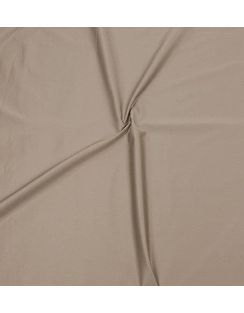Katoen Satijn Uni 0039 - licht bruin / grijs