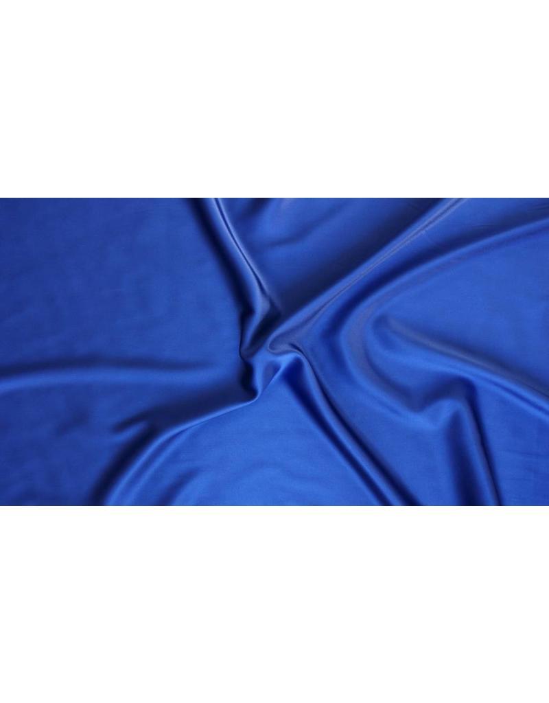 Stretch Zijde D22 - donker kobaltblauw
