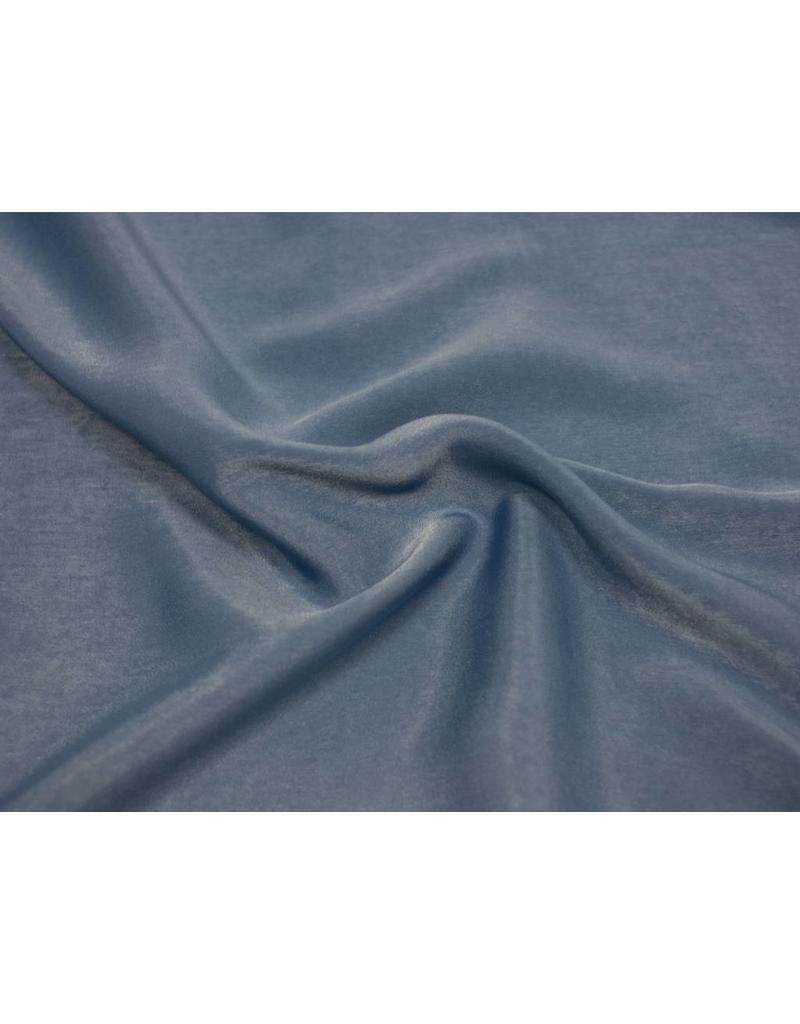 Gewaschen Seide Imitat D005 - jeansblau