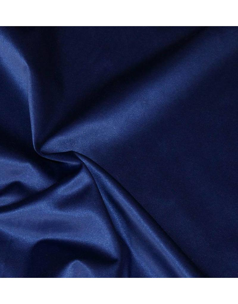 Glossy Cotton Uni S4 - cobalt de bleu