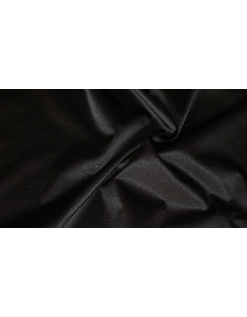 Glossy Cotton Uni S1 - noir