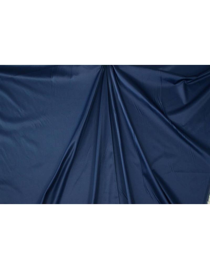 Glanz Baumwolle Uni S22 - stahlblau