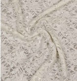 Lace with Sequins KG07 - cream