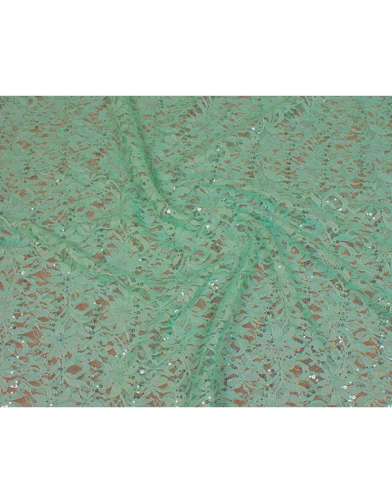Lace with Sequins KG03 - mint green