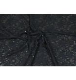 Lace with Sequins KG05 - black