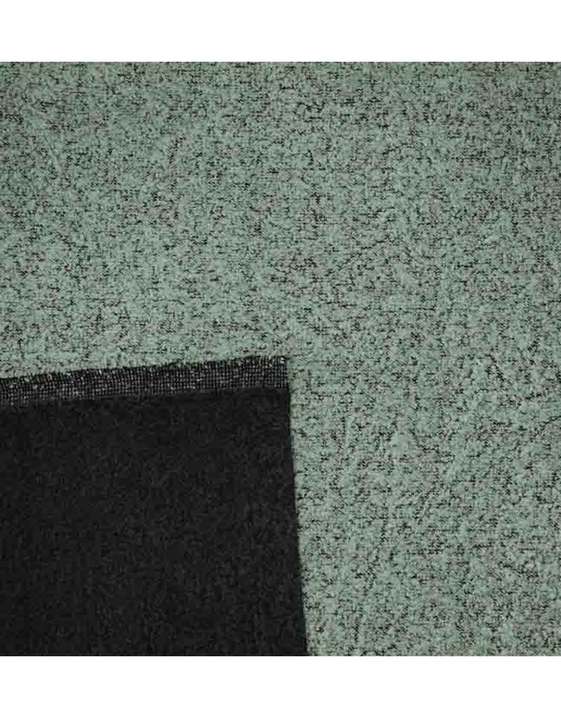 Double Face Bouclé BB17 - poedergroen / zwart