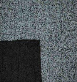Double Face Bouclé BB16 - lichtblauw / zwart